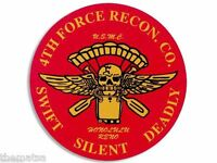 "4"" MARINE CORPS FORCE RECON SWIFT SILENT DEADLY HELMET USA MADE STICKER DECAL"