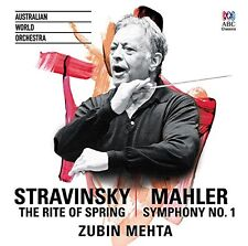 Zubin Mehta - Stravinsky The Rite of Spring  Mahler Symphony No 1 [CD]
