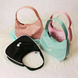 Vintage Underarm Bag Baguette Mini Handbag Casual Women Nylon Armpit Bag Summer