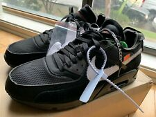 Air Max 90 OFF-WHITE Black Size 10 100% Authentic Airmax NIKE AM90 AA7293-001.