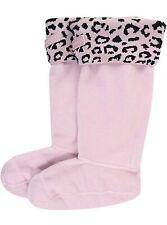 XL Hunter Original Snow Leopard Kids Boot Liners Socks - Haze Pink - XL 4-6