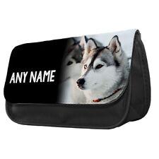 Personalised Siberian Husky Dog Make up Bag / Pencil Case
