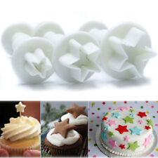 3 Stampini Stella stelle espulsione decorazione torta pasta zucchero cake stampo