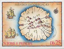 Sao Tome e Principe Nr. Bl. 38 Alte Landkarte