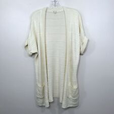 Urban Outfitters Silence + Noise Cardigan Sweater Short Sleeve Beige Drapey Sz S