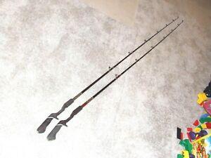 TWO FENWICK LUNKERSTIX 2000 PLC60 6' 3 OZ. SHAFT  FISHING RODS