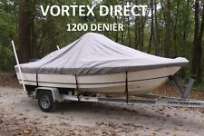 "VORTEX 1200D SUPER HEAVY DUTY 7 YEAR CANVAS GREY 20'6"" CENTER CONSOLE BOAT COVER"