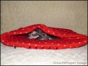 Leichte Kuschelhöhle Schlafsack für  Windhund & Co. - Fleece - °°Das Original°°