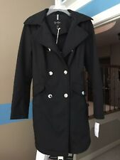 Jessica Simpson Double Breasted Trench Coat With Hood And Belt