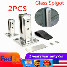 2PC 304 Stainless Steel Glass Pool Fence Clamp Deck Mounted Balustrade Spigots