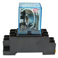 (Lot of 2) Omron LY2N-J (120V A/C Coil) 10A Cube Relay with Socket Base PTF08A
