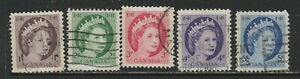 CANADA  TAGS # 337P-341P  USED