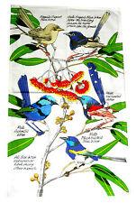 Australian Souvenir Blue Wren Variety 100% Cotton Kitchen Tea Towel
