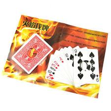 Fire Card Set magic tricks Fire Find Card Original Bicycle Card Flame Magic