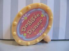 LITTLEST PET SHOP DOGGIE DINER PLAYSET Take Out House Replacement YELLOW SIGN