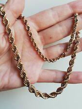 Collier ancien maille américaine plaqué or, poinçonné