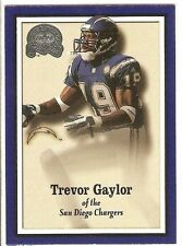 TREVOR GAYLOR 2000 FLEER GREATS OF THE GAME ROOKIE 123 SERIAL #/1500 SD CHARGERS