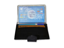 Men's New Genuine Real Leather Small Credit/Debit Card Wallet/Holder in Black