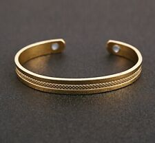 Pure Solid Copper Magnetic Wire Bracelet Bangle Arthritis Men Women Bio Therapy