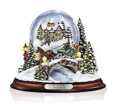 New Kinkade Illuminated Musical Christmas Snow Water Globe *Has Bubble* 50% Off!