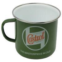 Castrol Classic Kaffee Becher Emailliert 500ml Motor Werkstatt Camping Nostalgie