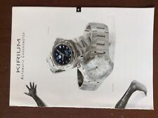c1a  ephemera advert watch tag heuer kirium automatic chronometer colin jackson