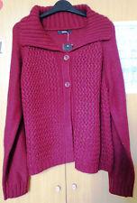 George Ladies Women Button Cardigan - Maroon - Size 20