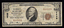 Rare, Reedsville, PA, Charter #4538, 12 Small Notes Reported, Series1929, $10.00