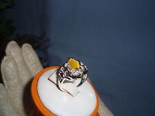Sterling Silver Ladie's Beautiful Cat's Eye Fashion Ring Sz 6.5
