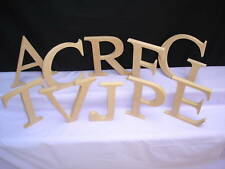 20cm high Freestanding wooden capital letters unpainted MDF 18mm thick