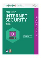 Kaspersky Lab Internet Security 2016 1 User FFP KL1867GBAFS-FFP