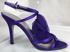 "Martinez Valero Women��s Heels  ""Corsa"" Satin Strappy Evening/ Prom Sz8M"