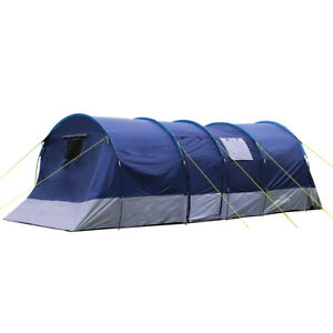 Charles Bentley Odyssey 6 Person Navy Blackout Tent Bedroom Living Sections