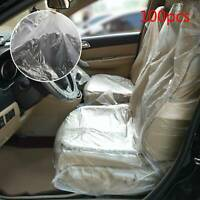 100 Disposable Plastic Car Seat Covers Vehicle Cover Valet Roll Protective