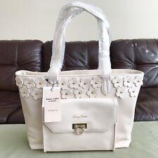 HONEY SALON - Ivory Faux Leather Flower Satchel Handbag Purse Japan New