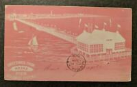 1902 Greetings from Heinz Pier Atlantic City NJ to NY Private Mailing Card