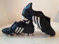 Rare Black Leather Adidas Predator Powerswerwe TRX FG Football Boots UK 6 , 39