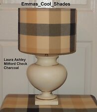 Handmade Lampshade Laura Ashley Mitford Check Charcoal Fabric Country Tartan