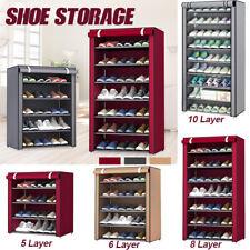 10 Tier Shoe Rack Cabinet Closet Storage Organiser Stand Shelf Dustproof  N