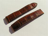 Omega Croco Lederband braun brown marron 20/18 100/100 I236