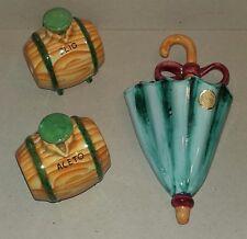 Ceramica PUCCI Umbertide - Set Olio e Aceto + Vasetto da parete - Rometti