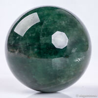 1103g Large Natural Green Strawberry Quartz Crystal Sphere Healing Ball Polished