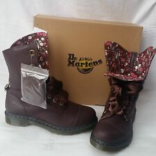Dr MARTENS Aimilie Brown Oxblood Leather Women Ladies Boots UK 3 EU36