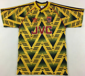 Arsenal London 1991-93 away JVC shirt jersey Adidas bruised banana vintage 32-34