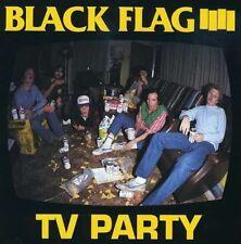 """BLACK FLAG 'TV party 7"""" henry rollins band minor threat LP husker du bad brains"""