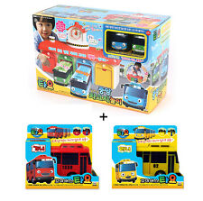 TAYO the Little Bus Main Garage + 4 Buses Toys Sound Effect Theme Song Kids Gift