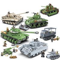 Military Panther Tank Building Blocks Technic City WW2 Tank   Kits Bricks Toys