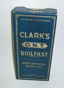 Antique Clark's Sewing Thread Box O.N.T. Empty