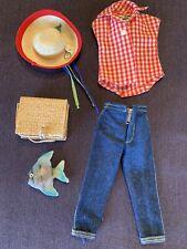 1959-61 Picnic Set # 967 Htf Frog Hat Clamdigger Zipper Jeans Shirt Basket