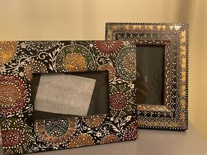 World Market 4x6 Painted Wood Picture Frame Set